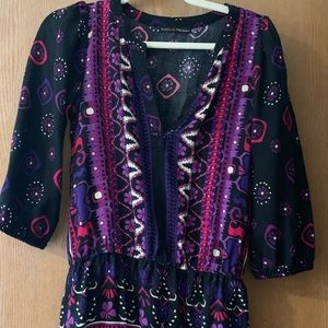 Dresses & Skirts - Black with purple, tunic